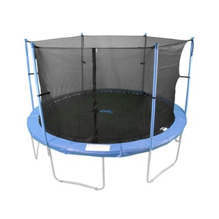 12-foot Trampoline Safety Net Fits For Round Frame Using 6 Poles or 3 Arches (poles not included)