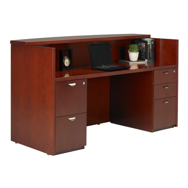 Mayline Mira Veneer Shell Reception Station