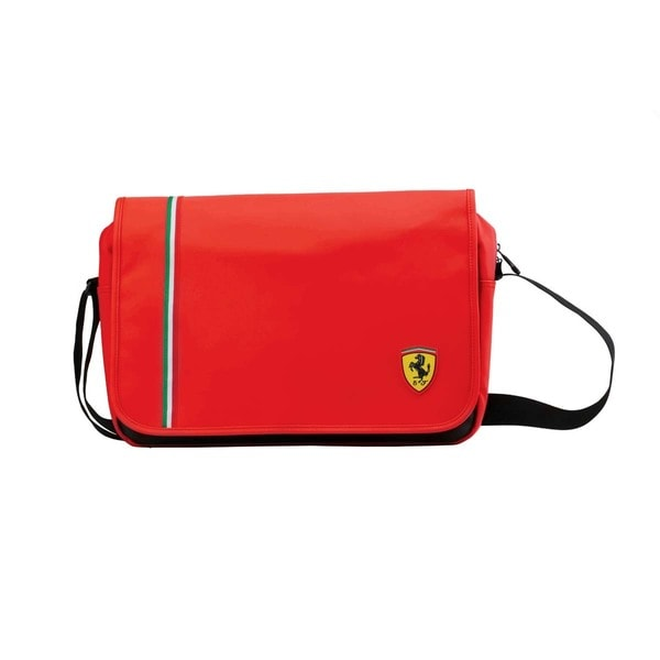 Ferrari Red Laptop Messenger Bag