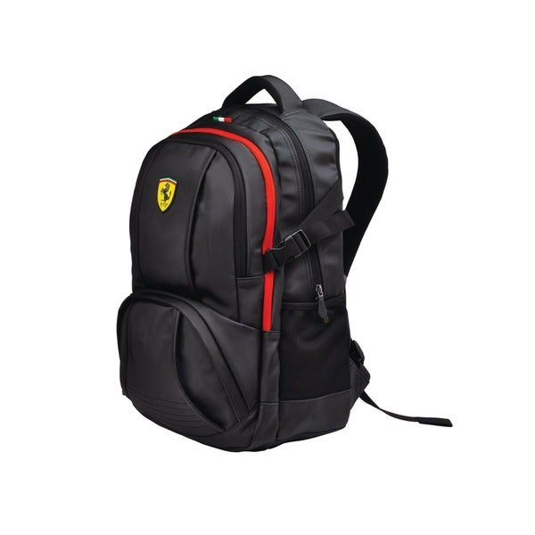 Ferrari Black Travel Backpack