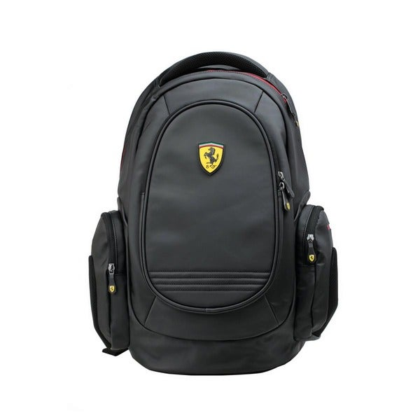 Ferrari Black Laptop Backpack
