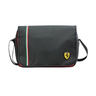 Ferrari Black Laptop Messenger Bag