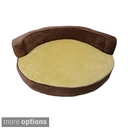 Orthopedic Luxor Soft Micro Velvet Round Bolster Pet Bed
