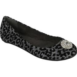 Women's Footzyfolds Betsy Crystal Silver Animal Print