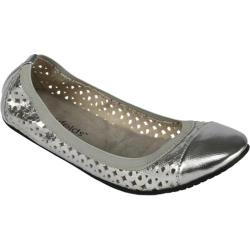 Women's Footzyfolds Jenifer Silver Metallic