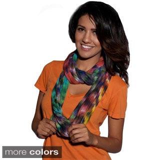 Boho Chic Tie-Dyed Infinity Scarf (Nepal)