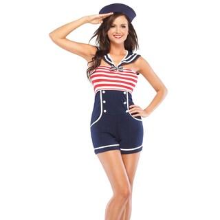 Masquerade Women's Sailor Romper Costume
