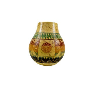 6.5-inch Colorful Hand-painted and Embossed Mexican Vase (Mexico)