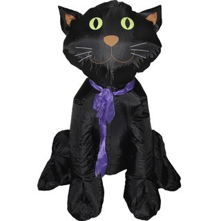 Inflatable 4-foot Halloween Classic Black Cat