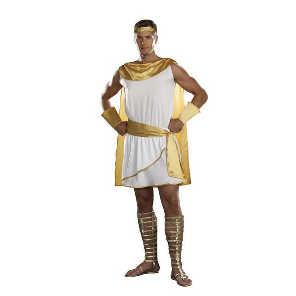 Dream Girl Men's 'He's A God' 4-piece White and Gold Costume