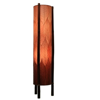 Eangee Burgundy Hue Large Floor Lamp