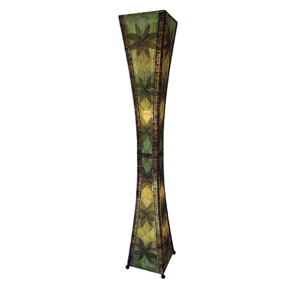 Eangee Green Hour Glass Giant Floor Lamp