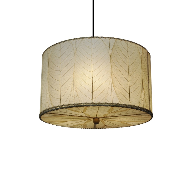 Hanging Lamp Philippines: Eangee Small Natural Drum Pendant (Philippines)