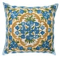 Chain Stitch Embroidery Bluebell Kashmir Cushion Cover (India)