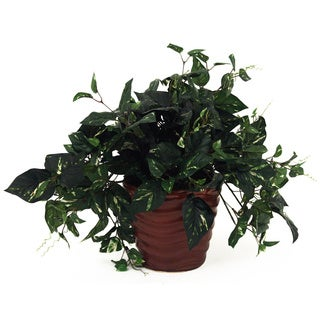 22-inch Silk Pothos Plant in Container