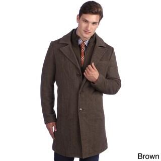 Kenneth Cole Men's Twill Wool Walker Coat