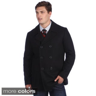 Calvin Klein Men's Wool Double Breasted Peacoat