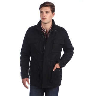 Calvin Klein Men's 4 Pocket Wool Coat