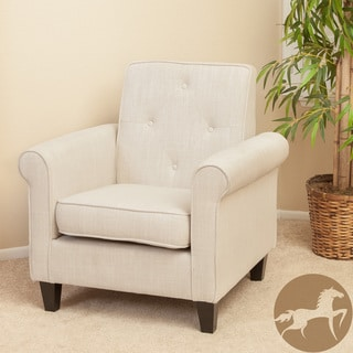 Christopher Knight Home Huntley Tufted Beige Fabric Club Chair