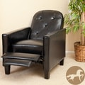 Christopher Knight Home Johnstown Tufted Black Leather Recliner