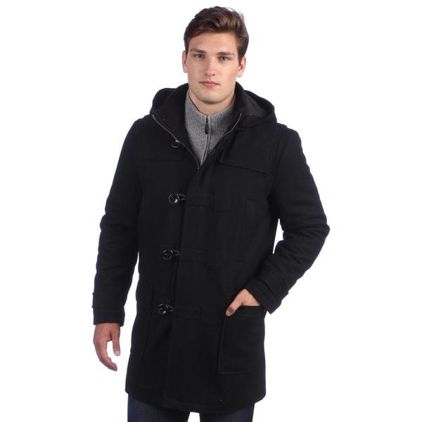 Sean John Men's Hooded Toggle Wool Coat
