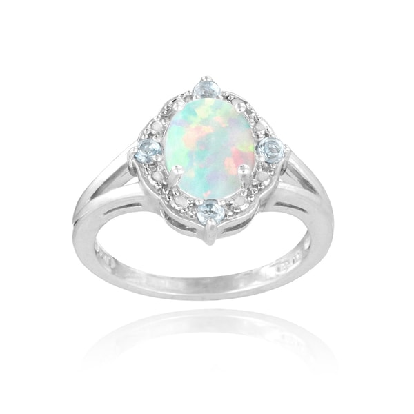 glitzy rocks sterling silver opal blue topaz and