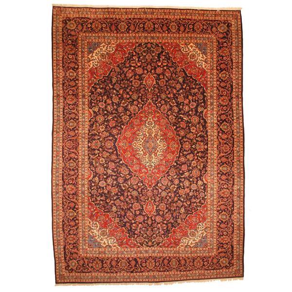 Herat Oriental Persian Hand-knotted Kashan Wool Rug (9'10 x 14'3) 11764160