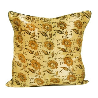 16 x 16-inch Khamir Floral Printed Cushion Cover (India)