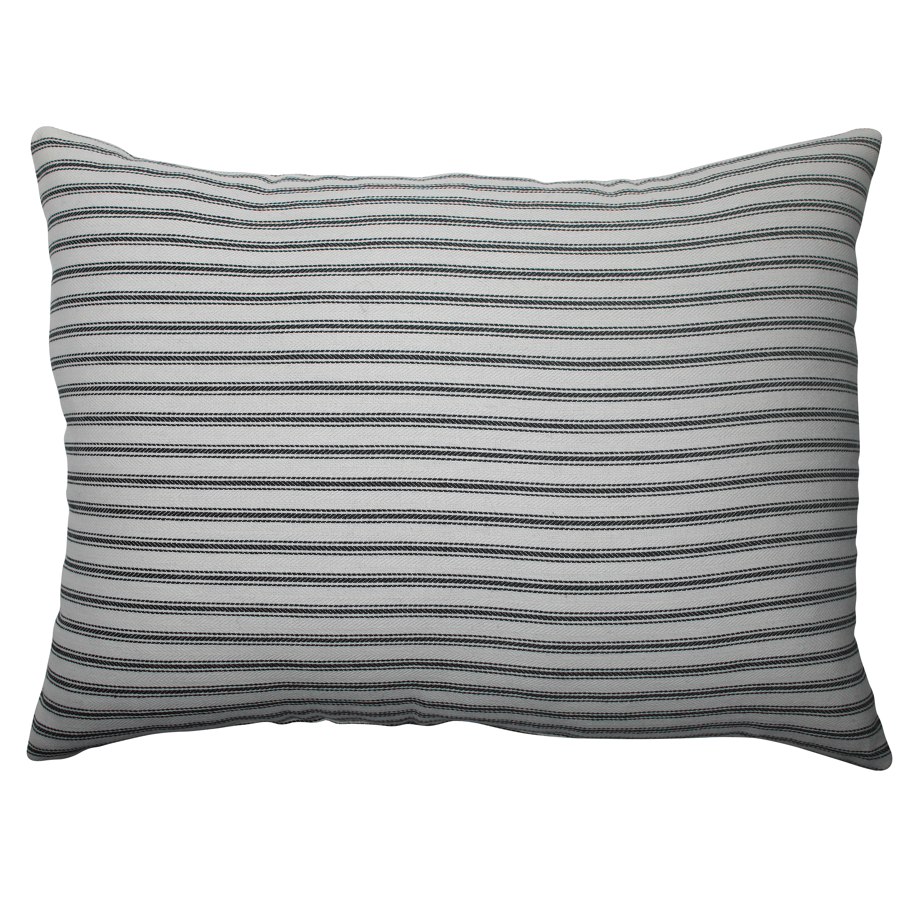 Pillow Perfect Ticking Stripe Cream Rectangle Throw Pillow at Sears.com