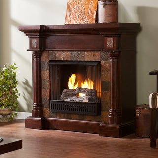 Upton Home Blanchard Espresso Gel Fuel Fireplace
