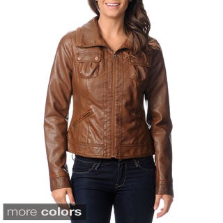 CoffeeShop Juniors Faux Leather Fashion Jacket