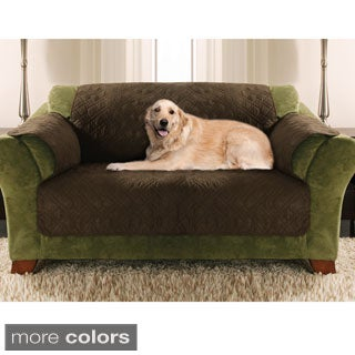 Quilted Micro Suede Love Seat Furniture Protector