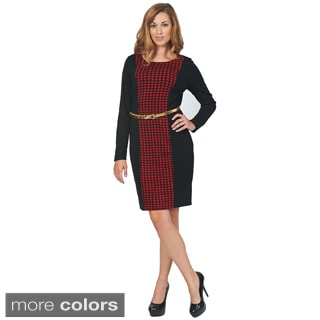 Bacci Women's Long Sleeve Shift Dress