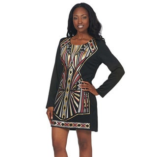 Women's Metallic Print Dress