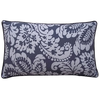 Hibiscus 12-Inch x 20-Inch Pewter Pillow