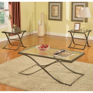 K&B T204-1 Cocktail Table with Two End Tables