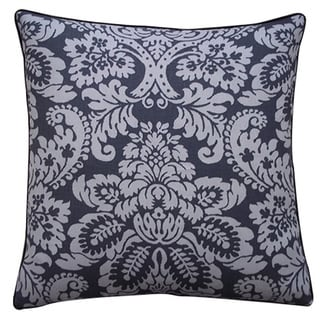 Hibiscus 20-Inch x 20-Inch Pewter Pillow