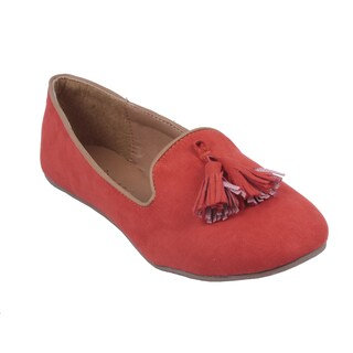 Anna by Beston Women's 'Lily-44' Slip-on Smoking Loafers