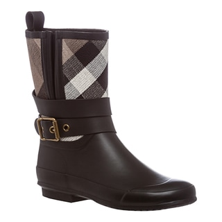Burberry Women's Belted Check Rainboots
