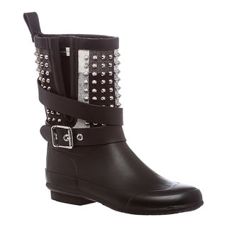 Burberry Women's Stud Detail Belted Rain Boots