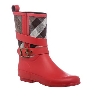 Burberry Women's Belted Check Rain Boots