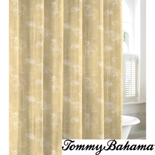 Tommy Bahama Paradise Postcard Cotton Shower Curtain