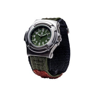 Smith & Wesson Men's Lawman Olive Drab Nylon Strap Watch
