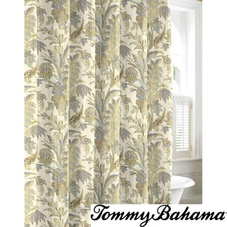 Tommy Bahama Bimini Blue Cotton Shower Curtain