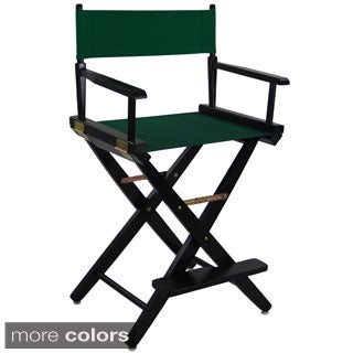 Extra-wide Premium American Oak Counter-height 24-inch Directors Chair