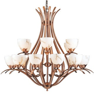 Legend 18-light Brushed Copper Chandelier