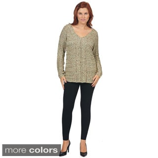 Bacci Women's V-neck Knit Sweater