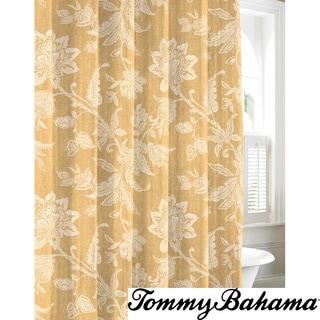 Tommy Bahama Bali Gold Cotton Shower Curtain