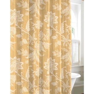 Tommy Bahama Bali Gold Cotton Shower Curtain