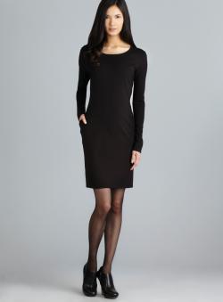 Walter Brynn Two Pocket Long Sleeve Scuba Dress